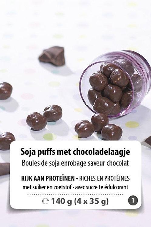 Soja-bolletjes met Chocoladelaagje