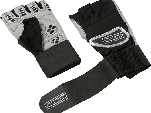 First Class Nutrition Gloves Wrist Wraps S-M-L