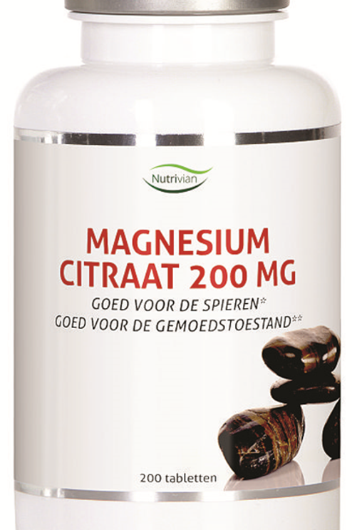 Nutrivian Magnesium Citraat 200mg
