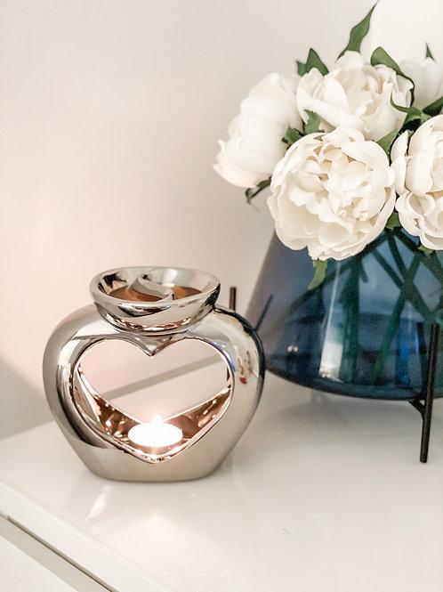 Duo Heart Ceramic Wax Melter