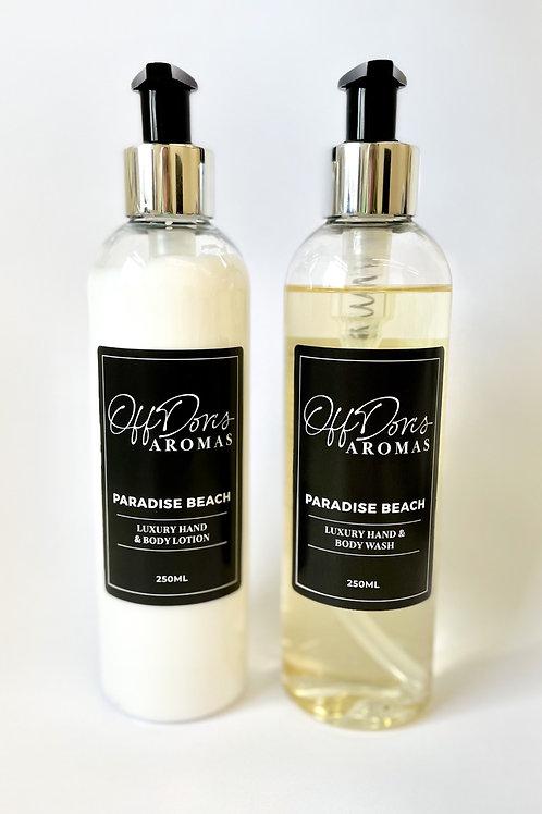Paradise Beach Hand & Body Wash & Lotion Set