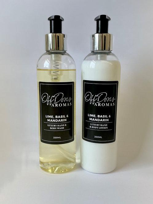 Lime, Basil & Mandarin Hand & Body Wash & Lotion Set