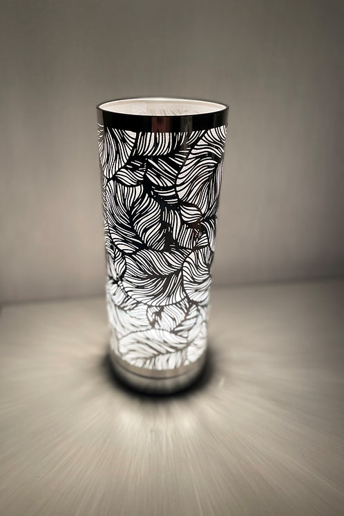 Leaf Style White And Silver Touch Sensitive Aroma Lamp