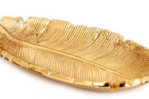 Golden Feather Trinket Dish