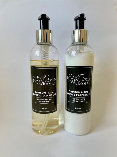 Damson Plum Rose & Patchouli Hand & Body Wash & Lotion Set