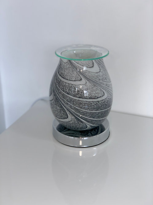 Grey Marble Glass Aroma Lamp with Touch Sensitive Base