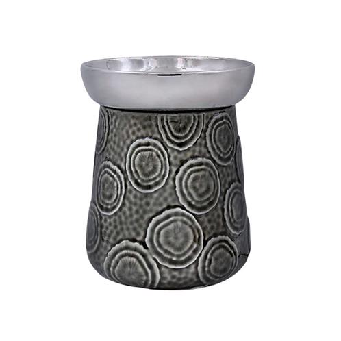Grey & Charcoal Circular Electric Oil Burner
