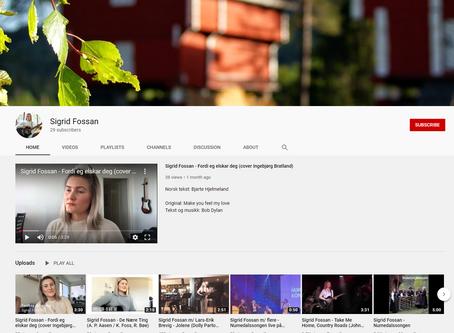 Følg meg på YouTube og vær den som får se videoene først