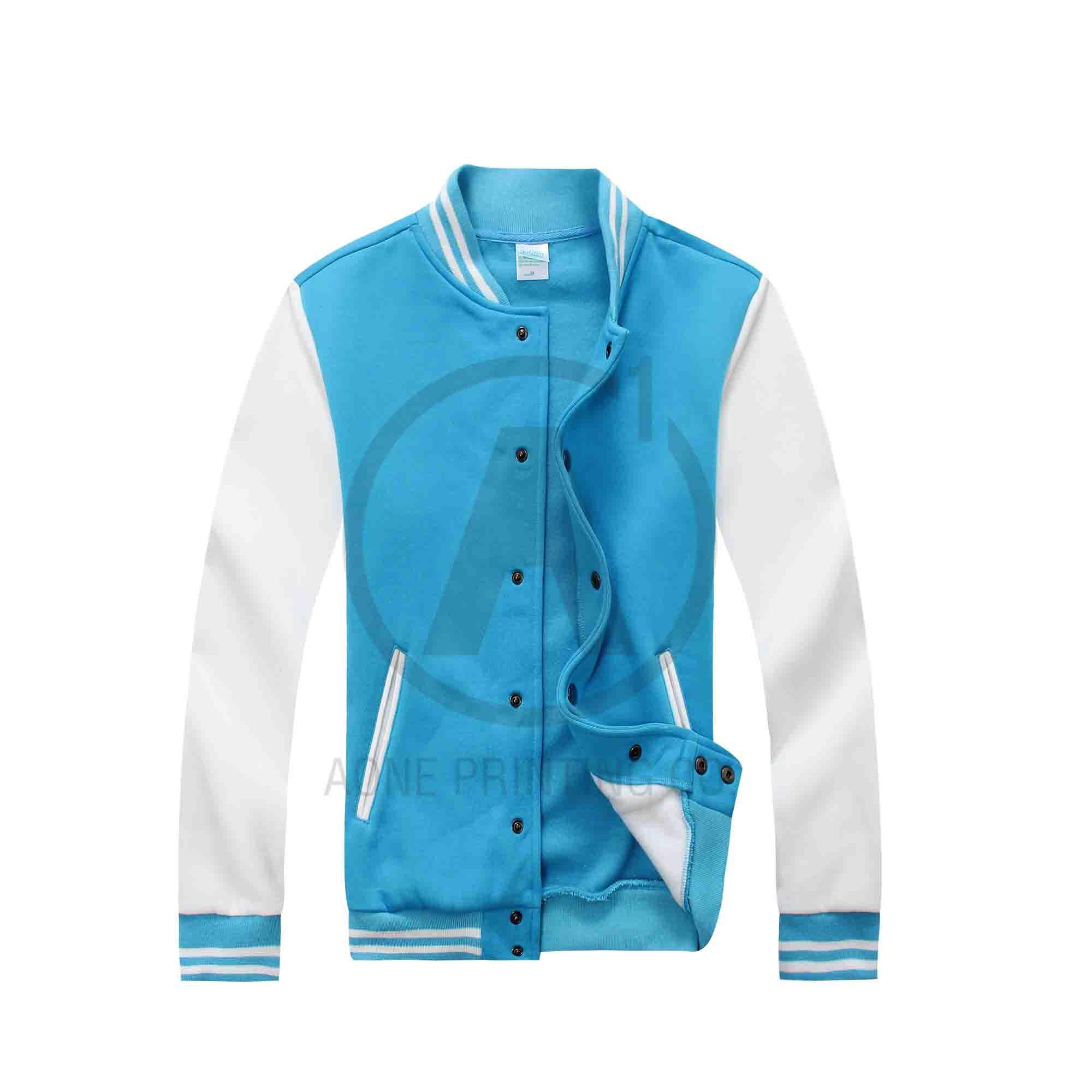 湖藍身白袖