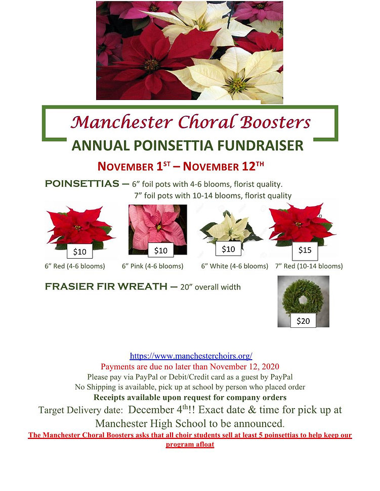 Website 2020 Poinsettia Fundraiser flyer