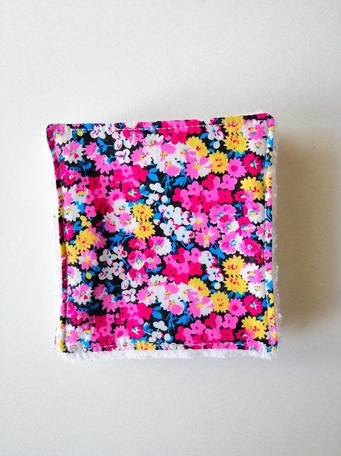 Lingettes lavables / carrés démaquillants Power flower