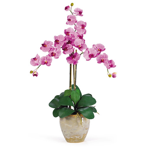 Triple Stem Phalaenopsis Silk Orchid Arrangement #1017-MA