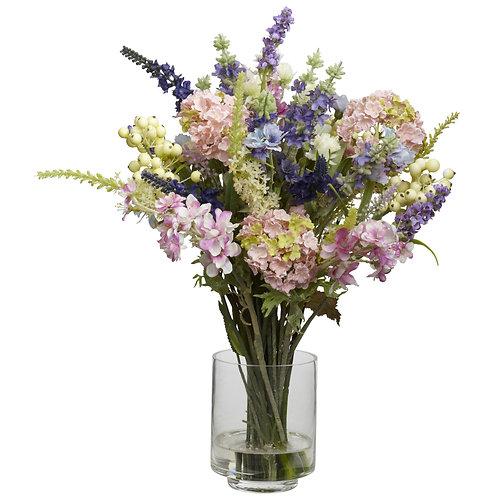 Lavender & Hydrangea Silk Flower Arrangement (Silk)
