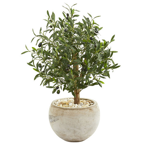 """31"""" Olive Artificial Tree in Bowl Planter SKU9223"""