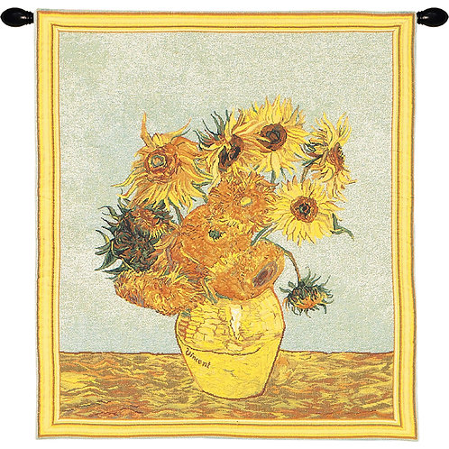 Sunflowers by Van Gogh I European Tapestry #12487