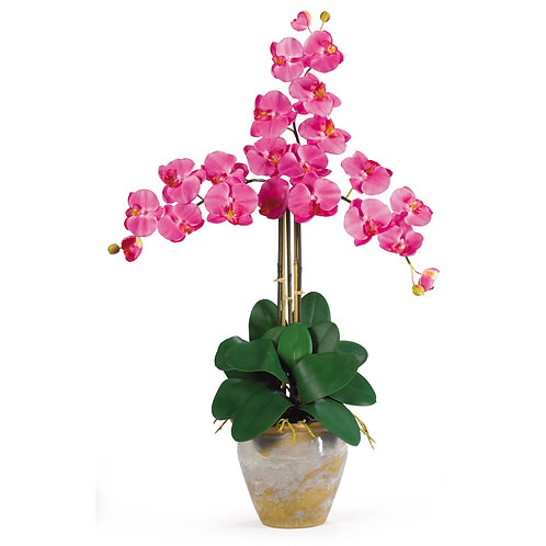 Triple Stem Phalaenopsis Silk Orchid Arrangement #1017-DP