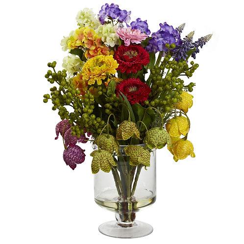 Spring Silk Floral Arrangement #4987