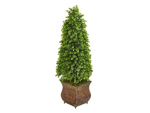 "41"" Eucalyptus Cone Topiary Artificial Tree in Classic Planter (Indoor/Outdoor)"