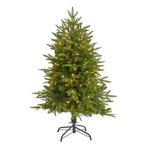 """4' Colorado Mountain Fir """"Natural Look"""" Artificial Christmas Tree with 150 Clear"""