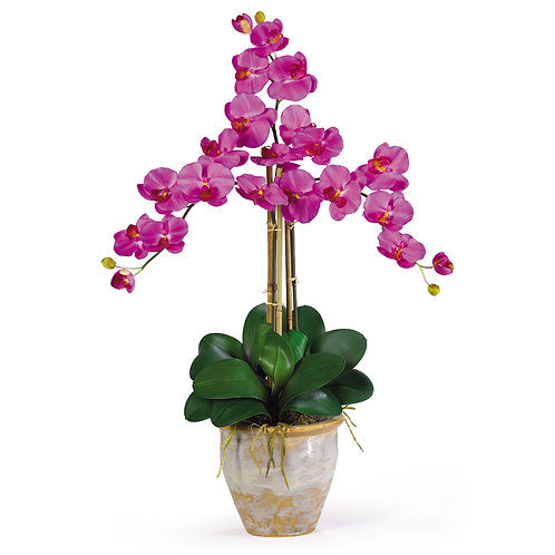 Triple Stem Phalaenopsis Silk Orchid Arrangement #1017-OR