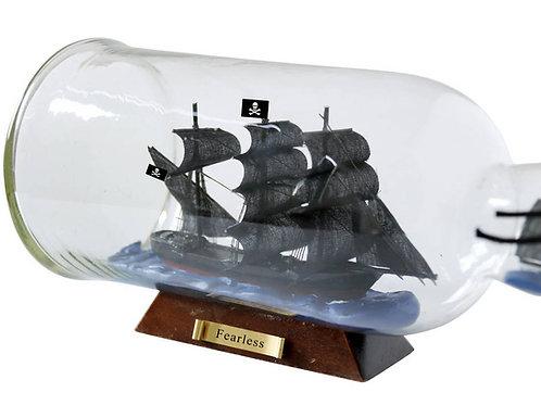 """Fearless Model Ship in a Glass Bottle 11"""""""