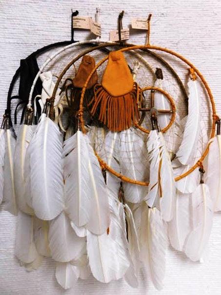 "12""-Native American Navajo-Made Dreamcatcher Medicine Wheel Combo"
