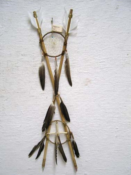 "26"" - Native American Navajo Made 4-Way Crossed Arrows"