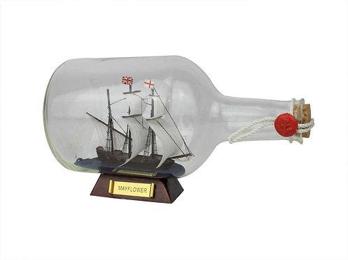 """Mayflower Model Ship in a Glass Bottle 9"""""""