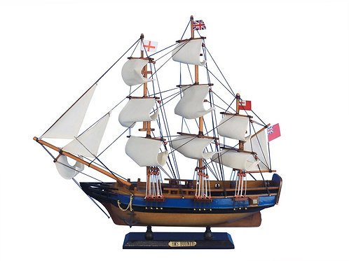 Wooden HMS Bounty Tall Model Ship 20""