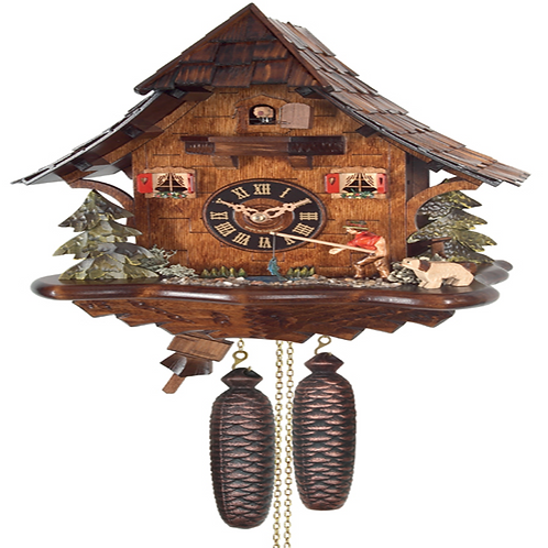Eight Day Cuckoo Clock Cottage 804-14