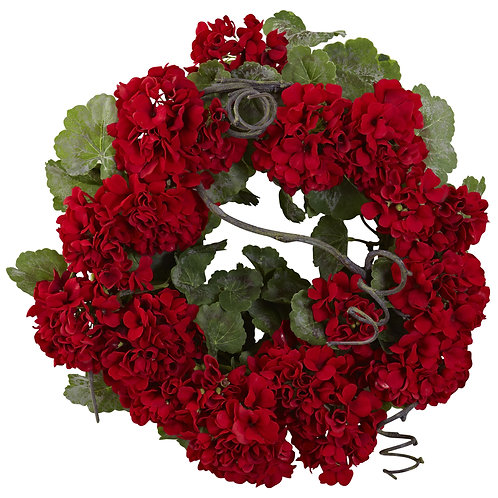"17"" Geranium Wreath SKU4986"