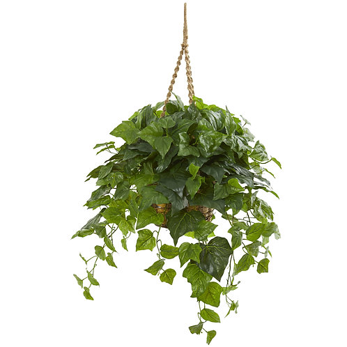 "38"" London Ivy Artificial Plant In Hanging Basket (Real Touch) #8521"
