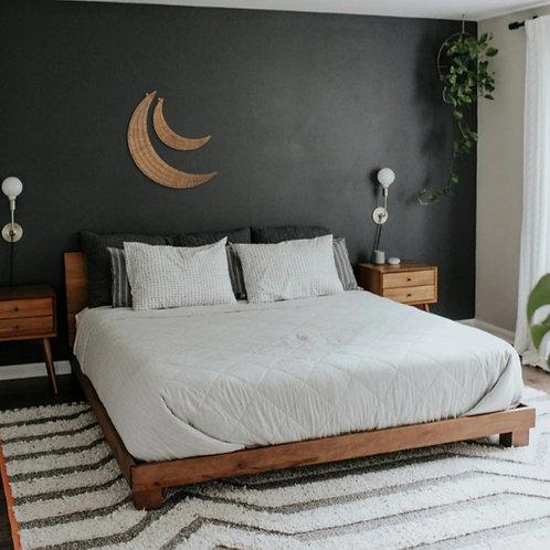 Crescent Moons Wall Hanging Wood Wall Art (Set of 2)