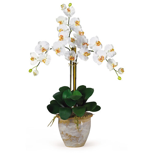Triple Stem Phalaenopsis Silk Orchid Arrangement #1017-CR