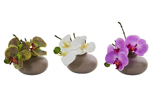 "7"" Phalaenopsis Orchid Artificial Arrangement (Set of 3)"