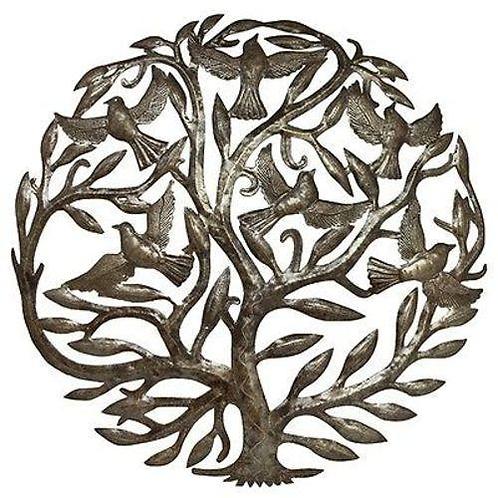 Steel Drum Art - 24 inch Tree of Life - Croix des Bouquets