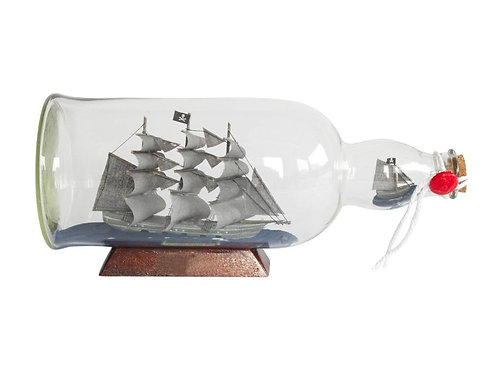 """Flying Dutchman Model Ship in a Glass Bottle 11"""""""