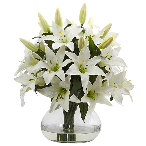 Large Lily Arrangement with Vase #1432