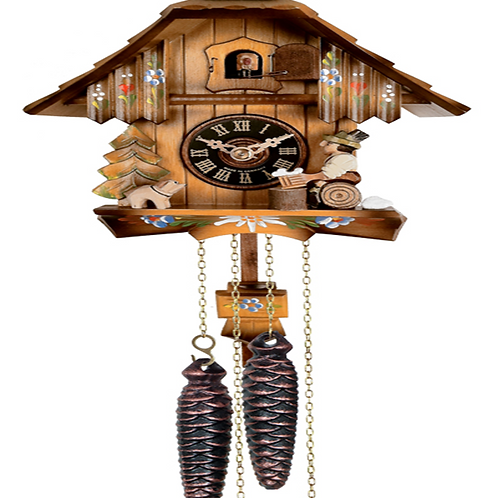 One Day Hand-Carved Cuckoo Clock 12-09P