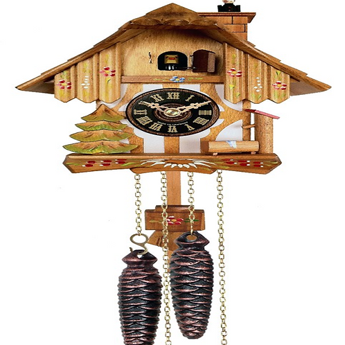 Chalet Style One Day Cuckoo Clock with Chimney Sweeper #22-09P