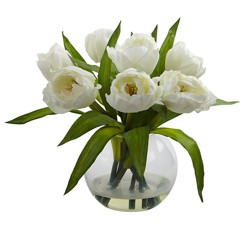 Tulips Arrangement W/Vase (Silk)