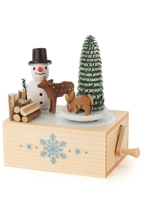Dregeno Music Box - Snow Man - sku: 22-125