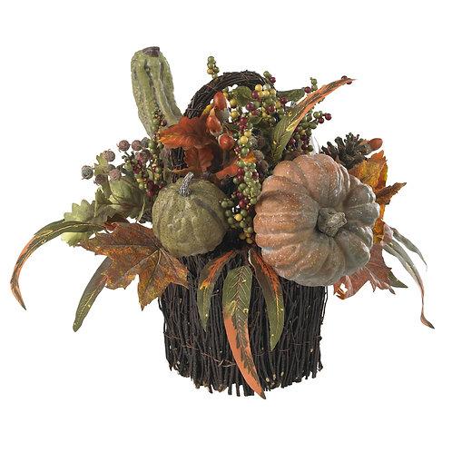 Fall Pumpkin & Berry Table Arrangement (Silk)