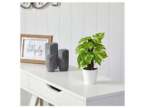"9"" Pothos Artificial Plant in White Planter"