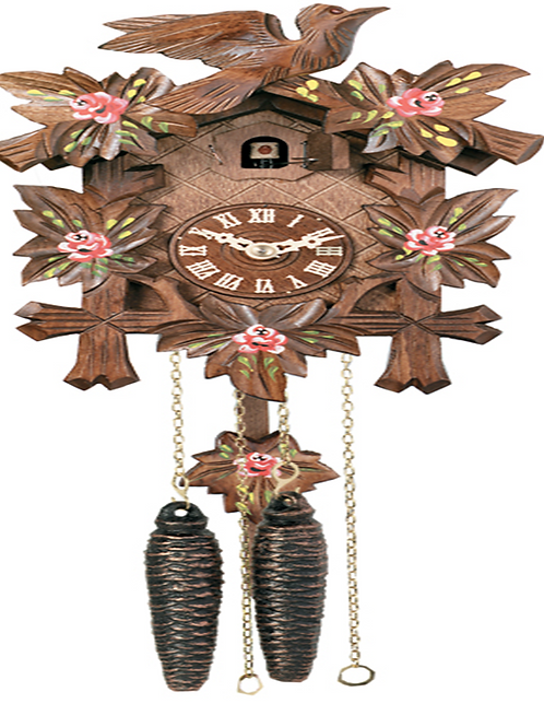 One Day Hand-Carved Cuckoo Clock 11-09P