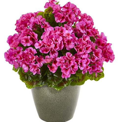 "17"" Geranium Artificial Plant UV Resistant (Indoor/Outdoor) #8777#8777"