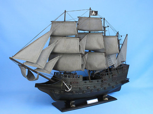 Wooden Flying Dutchman Model Pirate Ship Limited 26""