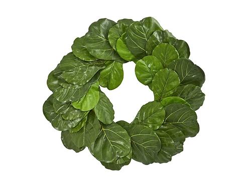 """30"""" Fiddle Leaf Artificial Wreath"""