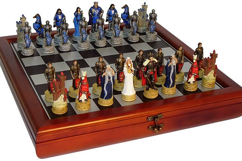 King Arthur Resin Chess Set with Chest R75138-CCT