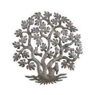 14 inch 3 Trunk Tree of Life Wall Art